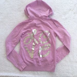 "🎉3/$10🎉 Purple ""LOVE"" Hooded Sweatshirt"